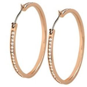 "The Kate"" Rose Gold Pavé Hoop Earrings"